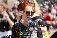 Bubble Pride - Ottawa Pride 2018 (Dan Dewan) Tags: 2018 canonef70200mmf14lisusm portrait bubbles bankstreet street people person canon ottawapride pride ottawa sunday woman august ontario canada glasses girl summer dandewan