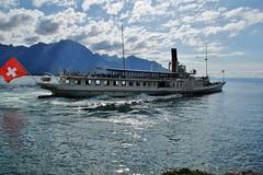 La Suisse op het meer van Geneve. (limburgs_heksje) Tags: zwitserland schweiz swiss meervangeneve chateau chillon berner oberland grens