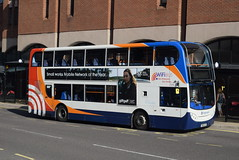 SY 15696 @ New Beetwell Street/coach station, Chesterfield (ianjpoole) Tags: stagecoach yorkshire scania n230ud alexander dennis enviro 400 yn60aea 15696 working route 25 new beetwell street chesterfield station lane whittington