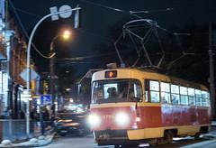 Kyiv. Evening sidewalk (Dmytro Shishkin) Tags: україна київ контрактоваплоща поділ вечір ніч трамвай міськійтранспорт місто ukraine kyiv kyivtram city citytransport rail rails tram pentax pentaxukraine pentaxk5 smcpentaxda50mmf18 50mm 50mmlens streetphoto podil