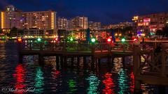 Light Zip (kud4ipad) Tags: 2017 miami smcpentaxda1645mmf40 night reflection light building lake water colour pier