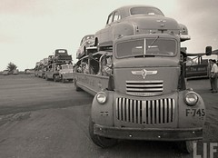 Chevy COE: Complete A-T #F745 (PAcarhauler) Tags: carcarrier semi chevy chevrolet tractor coe trailer