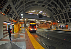 Pioneer Square Station, Seattle. (Infinity & Beyond Photography) Tags: pioneer square train station seattle sound mass transit city light rail link 8mm samyang fisheye lens images photos architecture