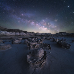 Egg Hatchery (bryanchong.photo) Tags: egg hatchery bisti badlands cracked eggs astro night milky way astrophotography sky rocks new mexico landscape wide angle laowa 15mm f2 sony a7rii nature outdoor