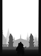"""""""Seeker of truth"""" (L1netty) Tags: darksouls3 darksouls ds fromsoftware bandainamcoentertainment bandainamco pc game gaming pcgaming videogame reshade screenshot 4k character ashenone man male people knight warrior irithylloftheborealvalley city buildings statues blackandwhite monochrome bw white silhouette outdoor fantasy"""