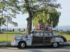 IMG_2342 Kits Beach, 1947 Chrysler Town & Country (vancouverbyte) Tags: vancouver vancouverbc vancouvercity 1947chryslertowncountry termitetaxi teviesmith