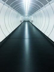 Tunnel (ARealStone) Tags: symmetrie blue architecture empty trainstation bahnhof kontrast tunnel iphone