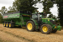 John Deere 6215R Tractor with a Cross Engineering 46 Chaser Bin Drill Filler (Shane Casey CK25) Tags: john deere 6215r tractor cross engineering 46 chaser bin drill filler ballyclough green jd traktor traktori tracteur trekker trator ciągnik grain harvest grain2018 grain18 harvest2018 harvest18 corn2018 corn crop tillage crops cereal cereals golden straw dust chaff county cork ireland irish farm farmer farming agri agriculture contractor field ground soil earth work working horse power horsepower hp pull pulling cut cutting knife blade blades machine machinery collect collectiing nikon d7200