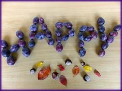 HAPPY..... Autumn! (Christa_P) Tags: smileonsaturday happywords autumn fruit plums obst yummy food lebensmittel