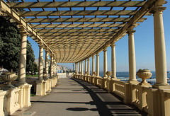 Foz do Douro - Portugal (phil_king) Tags: beach sea seaside ocean coast pergola path structure promenade shadows foz do douro porto portugla