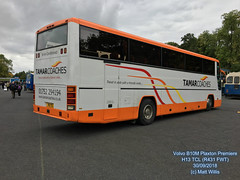 TAMAR COACHES VOLVO B10M PLAXTON PREMIERE R431 FWT H13 TCL SHOWBUS DONINGTON 30092018 (MATT WILLIS VIDEO PRODUCTIONS) Tags: tamar coaches volvo b10m plaxton premiere r431 fwt h13 tcl showbus donington 30092018