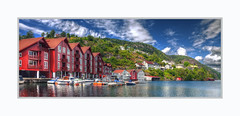 Exploring Beautiful Norway :-) (Fr@nk ) Tags: norway norge travel vacation pano panorama colors canon6d ef24105mmisl europe mrtungsten62 frnk recent rec0309 europ12 water lakefjord houses red paint clouds ciel himmel soleil sun summer enjoy happy smile beautyful vestagder mountain hill crop reflections blog explorenorway nofilter hollenderbyendutchtown kleivan lilleheia grisefjorden ektachrome topf25 topf50 topf100 topf150 topf200 topf250