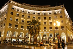 LACE HOTEL ... (demeeschter) Tags: greece thessaloniki macedonia city town building architecture museum tower archaeology historical heritage roman arch agora sea harbour people art restaurant shop street boat