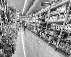 Aisle see you at the checkout (Mariasme) Tags: supermarket blackandwhite monochrome iphone