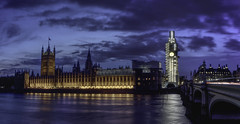 House of Parliament at dusk (EricMakPhotography) Tags: london parliament thames river water reflection night longexposure