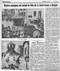 Quatre musiques ont animé la fête de la Saint-Louis à Acigné de 1960