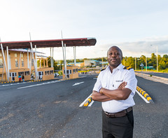 "Paul NYAGA is a station manager at the Customs & Border Control office in Kenya He calls the Isiolo-Moyale section of the corridor Nairobi-Addis Ababa road corridor, a ""game changer"". He has seen a rise in employment opportunities on both sides of the bor (African Development Bank Group PROJETCS) Tags: kenya ethiopia nairobi addis ababa highway project 2018"