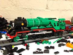 WIP - A proper Scotsman (Britishbricks) Tags: a3 green lner train steam flyingscotsman wip lego