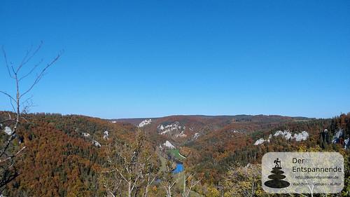 Blick auf das Donautal von Ruine Kallenberg