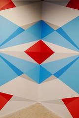 Vivid geometric staircase designs by FLIX - Fondation Cartier pour l'art contemporain, Paris (Monceau) Tags: vivid geometric designs staircase blue red white fondationcartierpourlartcontemporain paris