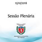 Sessão Plenária 15/10/2018