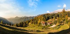 Glivaz di Sopra. Small village in Val Resia, Friuli, Italy (franco nadalin) Tags: friuli italy valresia beauty house landscape mountains nature panorama range sunset valley village