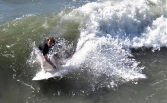 Swift ride surfer (moonjazz) Tags: california sandiego surfing waves curl balance surfboard speed ocean missionbeach sports action closeup male concentration pacificocean ride focus zen
