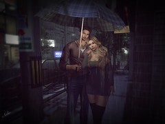 #235 rain....... (ЙёКσ) Tags: sl secondlife slblogger rain couple love fashion pose style mopirecity luanesworldposes nomatch deadwool truth