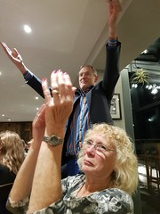 2018 0922 637 (SGS8+) Jeremy Vine, Joy; Appledore; The Royal George; ABF Friends' VIP Dinner (Lucy Melford) Tags: samsunggalaxys8 appledore book festival friends vip dinner jeremy vine