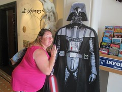Farewell Darth Vader......you will be missed. Helen says goodbye from #MayTheToysBeWithYou, Torquay Museum 19.08.17 (Trevor Bruford) Tags: star wars toy figure exhibition torquay museum maythetoysbewithyou