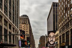 New York, New York (HisPhotographs.com) Tags: newyorkcity nyc ny newyork macys buildings city colin kaepernick colinkaepernick west 34thstreet department store tv clouds cloudy bus view hopon hopoff traffic light nike justdoit