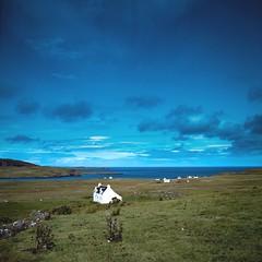 Cottage in Skye (jhotopf) Tags: gb skye scotland velvia fujifilm 80mmf28 c330s mamiya