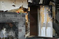 Until we meet again... (Doris Burfind) Tags: house abandoned decay rural smoke peelingpaint fire door scary spooky fireplace farmhouse halloween