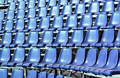 The Gatherings : Match Point (Storyteller.....) Tags: gatherings chairs stadium match blue