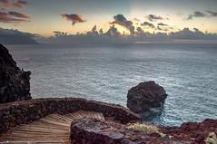 Stair / Escalera (López Pablo) Tags: sunset stair lava rock cloud sea wood lehierro canary island spain nature nikon d7200