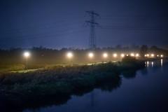 Rainy Cycle Path (Roderick van der Steen) Tags: sonyalpha sonya7s zeissmilvus50mmf14distagon zeiss zf2 milvus1450 night novoflex landscape landsmeer netherlands a7s water reflections