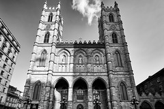 Notre Dame Basilica (M. Nasr88) Tags: architecture blackwhite building canada city d750 digital heritage historical landmark montreal monochrome nikon quebec urban travel notredame notredamemontreal notredamedebonsecours religious religion christian church