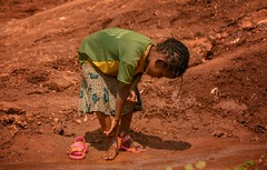 Feet Wash (Rod Waddington) Tags: africa african afrique afrika äthiopien ethiopia ethiopian ethnic etiopia ethnicity ethiopie etiopian wollaita wolayta wollayta tribe tribal traditional feet wash girl culture cultural child water creek sandles candid