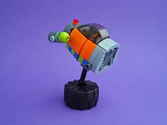 Hoppa Pod (David Roberts 01341) Tags: lego spacepod bubblecar spaceship minifigure scifi future orange toy fun rocket
