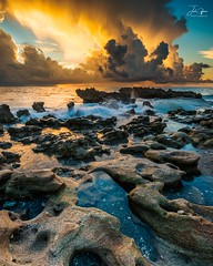 Ethereal Sunrise (J.Coffman Photography) Tags: water florida united states clouds nikon d810 sunshine fl state sky sea ocean sunrise rocks waves rock wave beach
