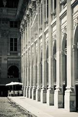 Le Palais Royal Paris (claudia 222) Tags: paris summicon 90mm palais royal monochrom bw