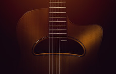 Old Gypsy Acoustic Guitar (dejankrsmanovic) Tags: guitar acoustic gypsy jazz swing django favino style classical wood wooden instrument musical music sound audio equipment structure play object studio stilllife old retro vintage neck fret string board body model brown design tailpiece hole closeup illuminated france french european culture dutch stylistic artistic art playful entertaining