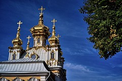 Church not of, but above the people (Phancurio) Tags: peterhof church stpetersburg russia baroque