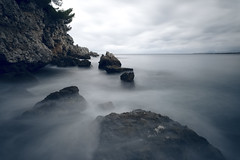 Dramatic Coastline (fredMin) Tags: long exposure cap antibes france rocks sea filter nd zeiss touit 12mm fujifilm xt1 coast shore seascape