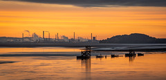 The Redo (Rob Pitt) Tags: early morning mersey ferry sunrise eastham river wirral stanlow smoke chimney outdoor sky sunset landscape cloud dusk skyline sony a7rii panorama sigma 70300mm