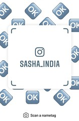 example of nametag for Instagram (Sasha India) Tags: instagram nametag instatag tag name sashaindia дизайн qrcode design 設計 디자인 التصميم σχέδιο डिज़ाइन வடிவமைப்பு desenhar projekt עיצוב desain ok