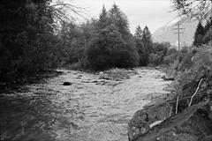 Landwasser & Albula confluence (vladixp) Tags: fp4 fp480 d76 14min 20c 12 praktica mtl5 flektogon k2 pf7250u 3600dpi 35mm fp4plus yellowfilter filmscan 35mmfilm film bw bwfilm filmphotography negative scanned ilford graubünden grigioni grisons svizzera schweiz switzerland suisse landwasser albula
