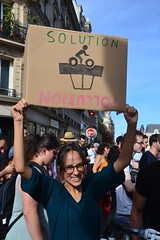Climate change protesters march in Paris streets (Jeanne Menjoulet) Tags: climat change protesters manif marche manifestation environnement climate écologie pollution pancarte