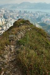 Go down the road (Alexander K L Chan) Tags: outdoor hiking mountain mountains city cityscape hongkong hk ocean sea green sony a99