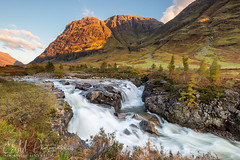 River Coe at sunset (ESM Photographics) Tags: 2018 glencoe schotland rivercoe scotland waterfall mountains water trees aonachdubh scottishhighlands chasingwaterfalls thelee100mmfiltersystem leend06hardgarde river stream rocks highlands coe sunlight autumn fall clouds landscape hill hills glenn